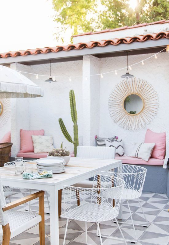 Beautiful outdoor space - loving the soft color palette