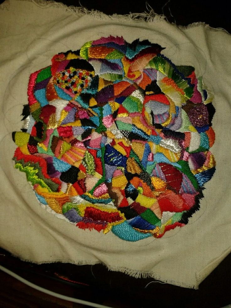 Colourful hand embroidery