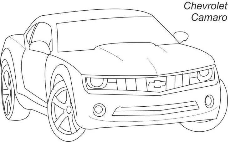 camaro outline
