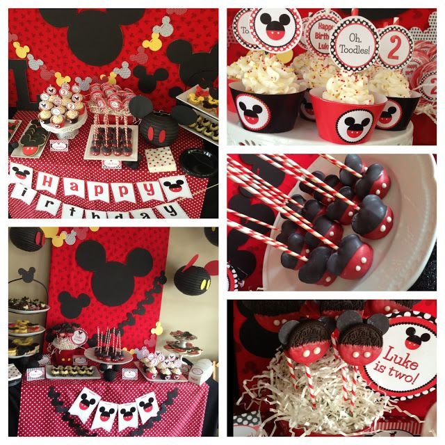 Mickey Mouse Birthday--OVER THE TOP but lots of cute ideas. :-)