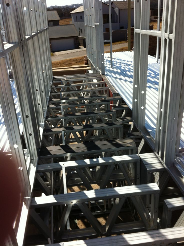 Steel Frame House - This is what the slab looks like from the top. Empty!