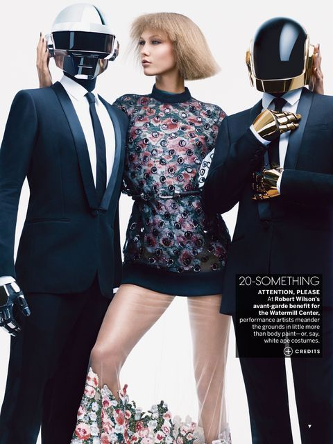 'All-Ages Show' Karlie Kloss & Daft Punk by Craig McDean for US Vogue August 2013 [Editorial] - Fashion Copious