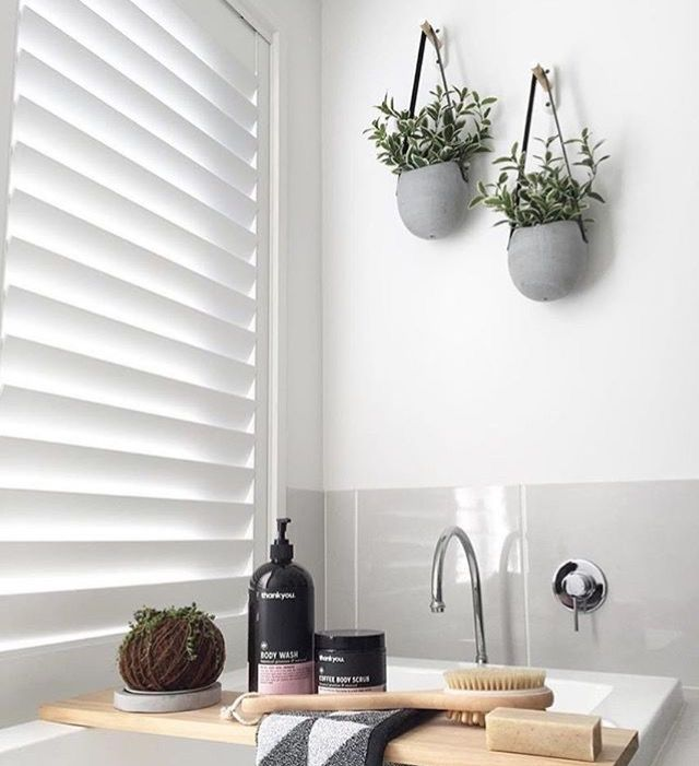 Grey tile white bathroom
