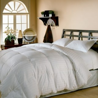 @Overstock - Sleep in luxurious bliss with this lightweight 500 thread count down comforter. With soft cotton construction, this plush comforter is finished with an elegant cabana stripe.http://www.overstock.com/Bedding-Bath/Oversized-500-Thread-Count-Damask-Stripe-White-Down-Comforter/3967818/product.html?CID=214117 $99.99