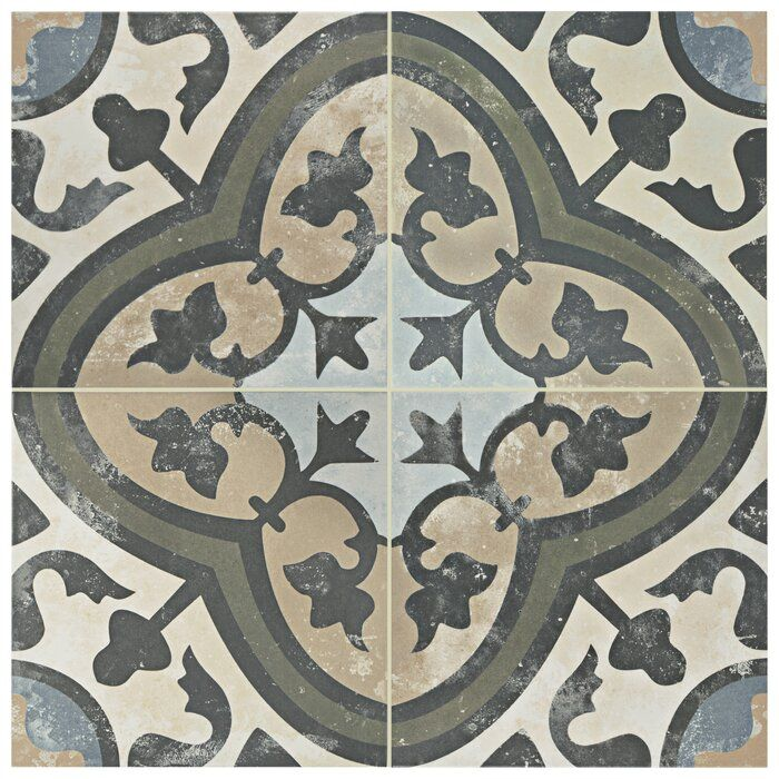 Conceptum 10 X 10 Porcelain Spanish Wall Floor Tile In 2020 Floor And Wall Tile Merola Tile Porcelain Flooring
