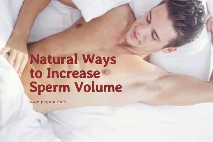 how to increase sperm volume