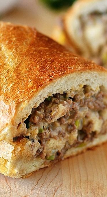 Stuffed French Bread (Ranking 8.5/10) - Added fresh sliced mushrooms (3/4 Cup) and increased onion (+2 TBSP)