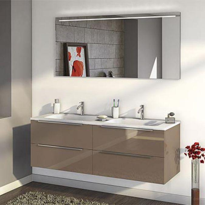meuble salle de bain - Meuble Delpha Unique Onde