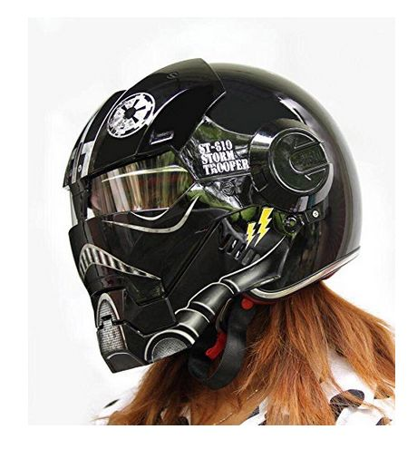 Iron man motorcycle helmet with graphics