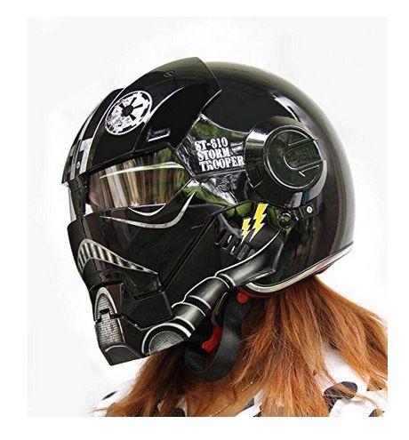 Iron man motorcycle helmet with graphics