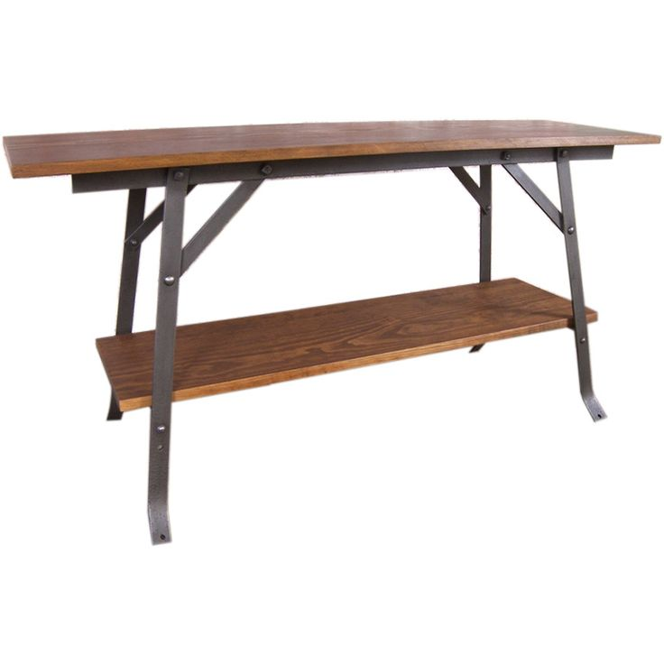 Wood U0026 Steel Industrial Bench / Table / Shelving Unit | From A Unique  Collection Of