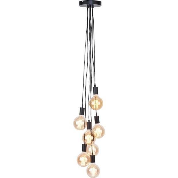 Stijlvolle plafondlamp Oslo van It's about Romi met 7 lampen.