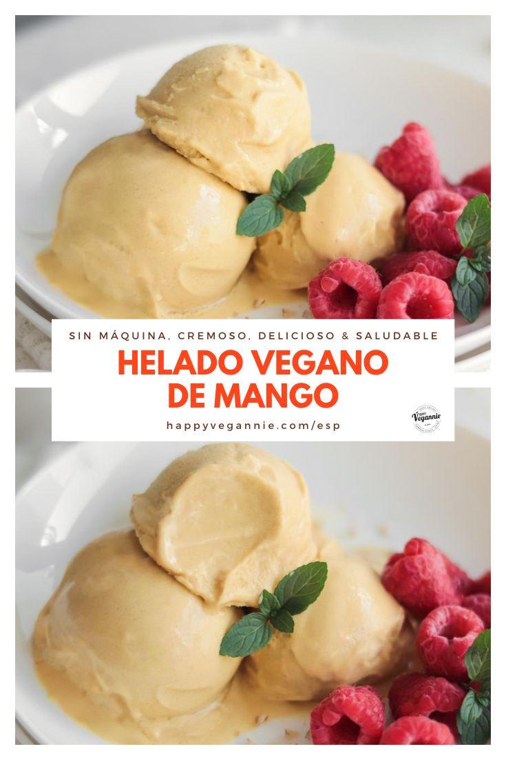 Vegan Lunches, Vegan Snacks, Vegan Desserts, Mango Ice Cream, Vegan Ice Cream, Banana, Canned Coconut Milk, Delicious Vegan Recipes, Ice Cream Recipes