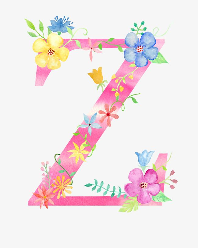Flowers Letter Z Letter Clipart Letter Flower Png Transparent Clipart Image And Psd File For Free Download Floral Font Flower Letters Floral Letters