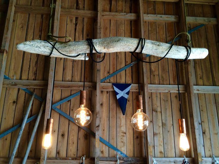 D.I.Y drift wood chandelier