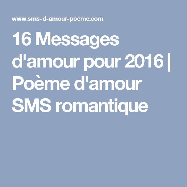 16 Messages d'amour pour 2016 | Poème d'amour SMS romantique