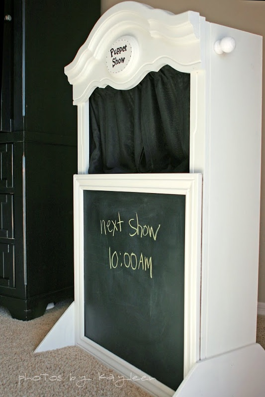 DIY Puppet Theater- My children will have to have this in their playroom...