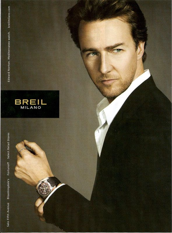 Edward Norton One of the great actors of our time. Primal Fear, The Incredible Hulk, Fight Club etc.
