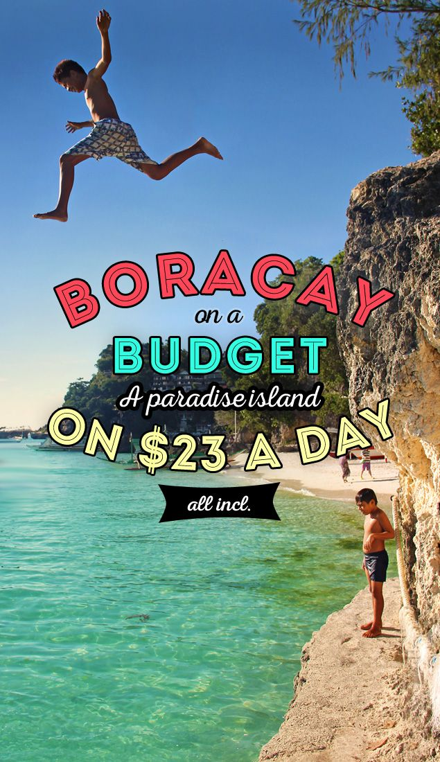 Boracay on a Budget: A World-Class Island in the Philippines on $23 a day | Can you visit one of the most beautiful islands in the world on a low budget? Yes, you can! I'll show you how to enjoy Boracay on less than 1000 PHP ($23 / €17) a day. - via @Just1WayTicket #travel #guide