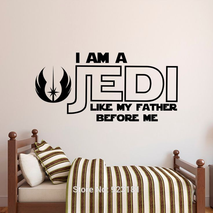 Star Wars Luke Skywalker Quote Wall Art Sticker Decal Home DIY Decoration Wall Mural Removable Bedroom Decor Stickers 57x117cm(China (Mainland))