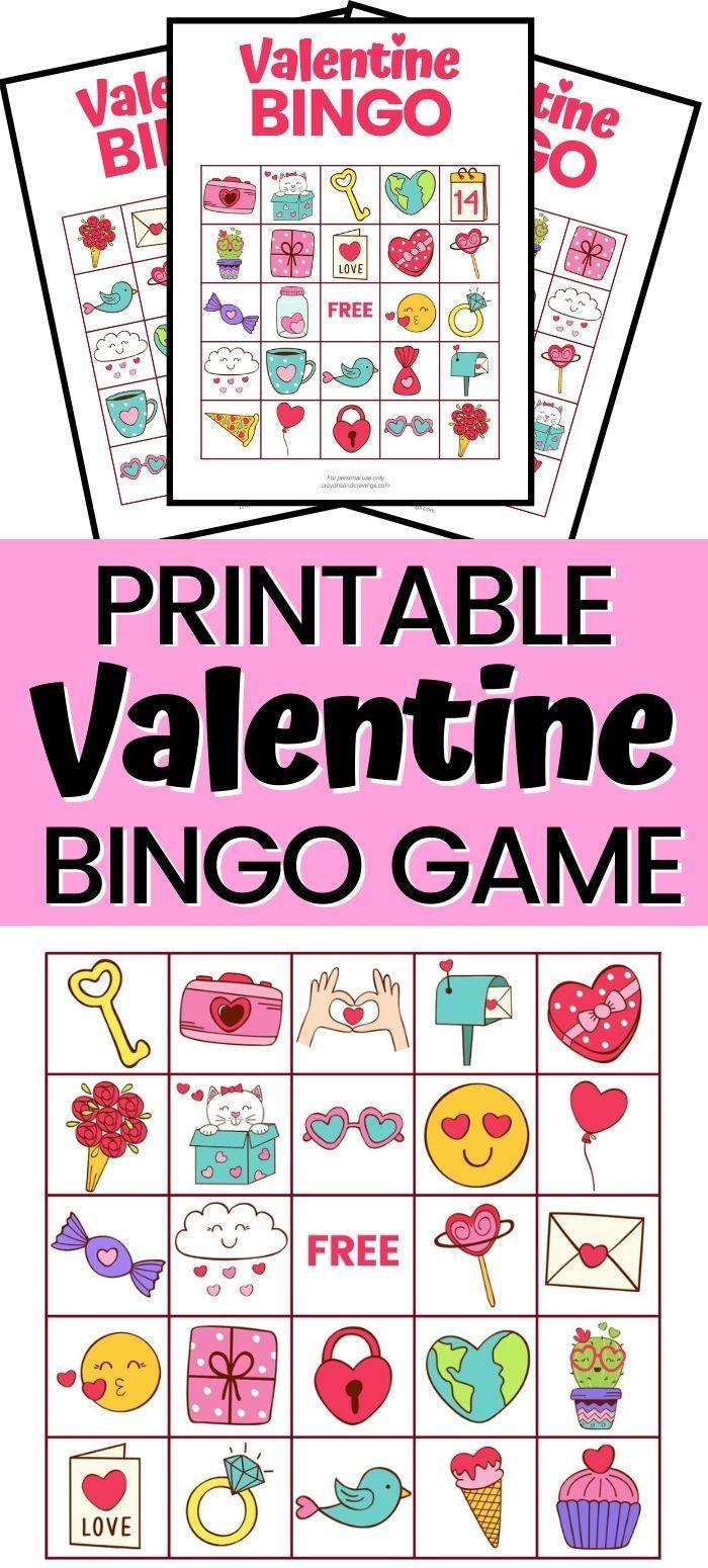 valentine bingo  free printable valentine's day game with