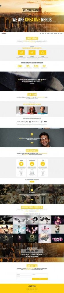 Jarvis – Onepage Parallax Theme #tagtagweb #html5 #template #onepage #parallax