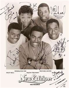 "New Edition - OMG this makes me laugh! I love it, Candy Girl, Mr. Telephone Man, Can You Stand the Rain. 80""s or 90's NE, just classic!"