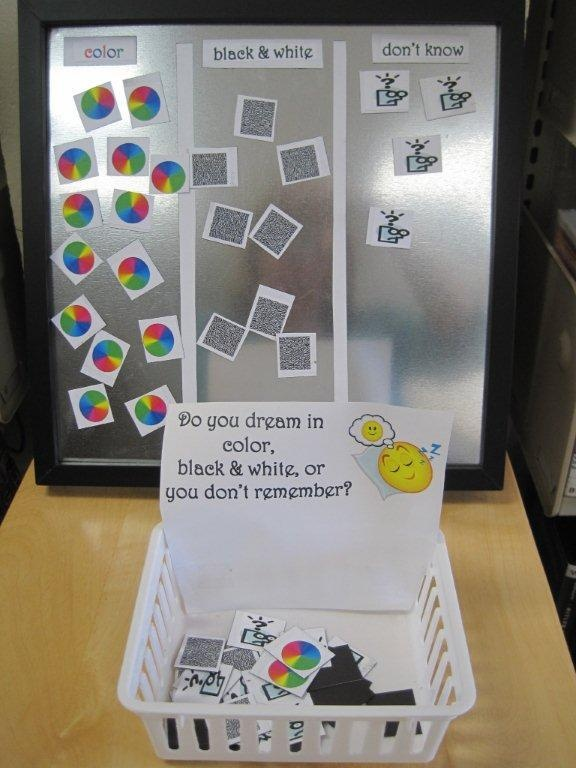 Magnetic Board - Do you dream in color, black & white, or don't remember?