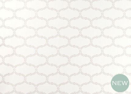 Floral Trellis Dove Grey Patterned Wallpaper laura ash