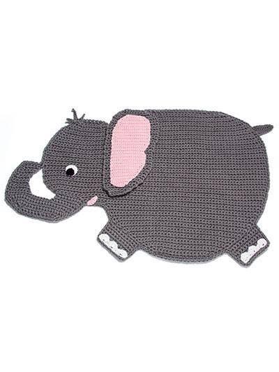 çocuk odası için hayvan figürlü filli paspas modeli