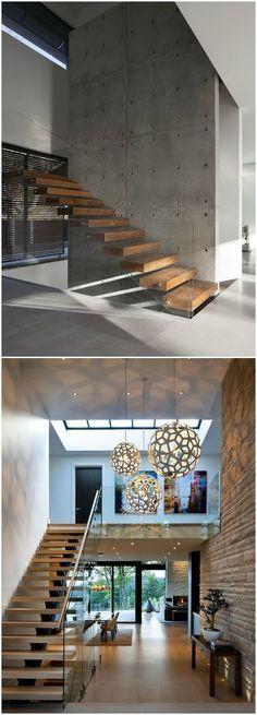 Diseño de escalera. Visto en www.momocca.com:
