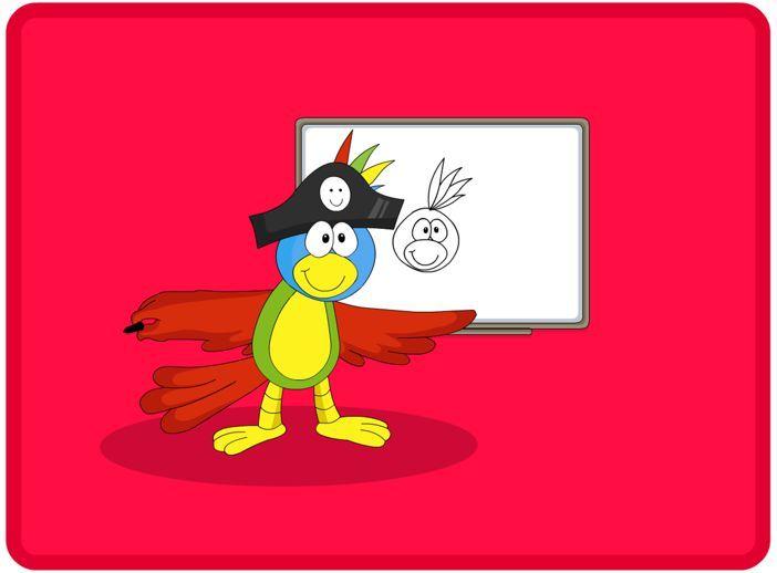 Captain Jack 1, Interactief Engels leren aan kleuters, kleuteridee.nl ,voor digibord of op computer voor kleuters. English interactive whiteboard lessons for preschool.