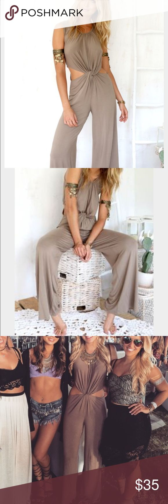 Sabo Skirt playsuit Sabo Skirt brown playsuit - worn once for a few hours at Coachella, like new. Sabo Skirt Pants Jumpsuits & Rompers