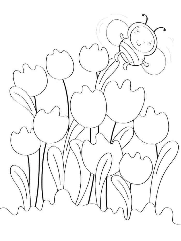 Tulip Coloring Pages In 2020 Butterfly Coloring Page Mandala