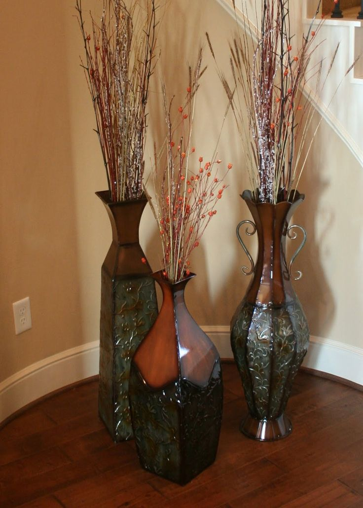 17 best ideas about floor vases on pinterest tall floor vases entertainment stand and vintage - Great decorative flower vase designs ...