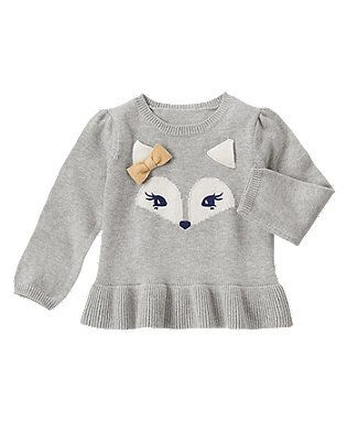Fox Peplum Sweater