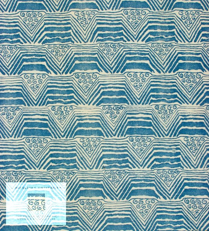 designed by Barron, Phyllis, Turnbull & Stockdale Ltd; Rosebank Fabrics, about 1935 This hand block-printed cotton was designed by Phyll...