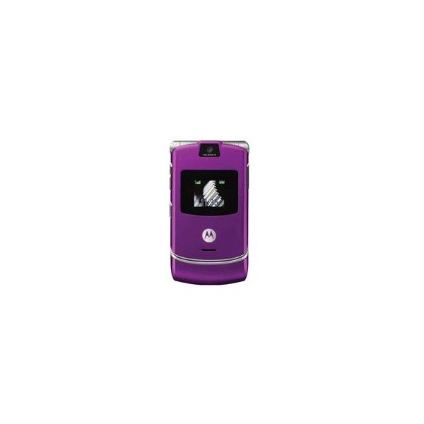 Pernambucanas: Celular V3 Roxo c/ Câmera, Toque MP3 Motorola - GSM ❤ liked on Polyvore featuring electronics, celulares, accessories, cell phones and phones