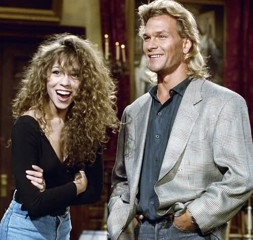 Mariah Carey & Patrick Swayze This makes me so happy, being that im such a big fan of Mariah and a big fan of Patrick, Ive been missing him lately.. ... god i loved her curly hair! RIPPatrickSwayze