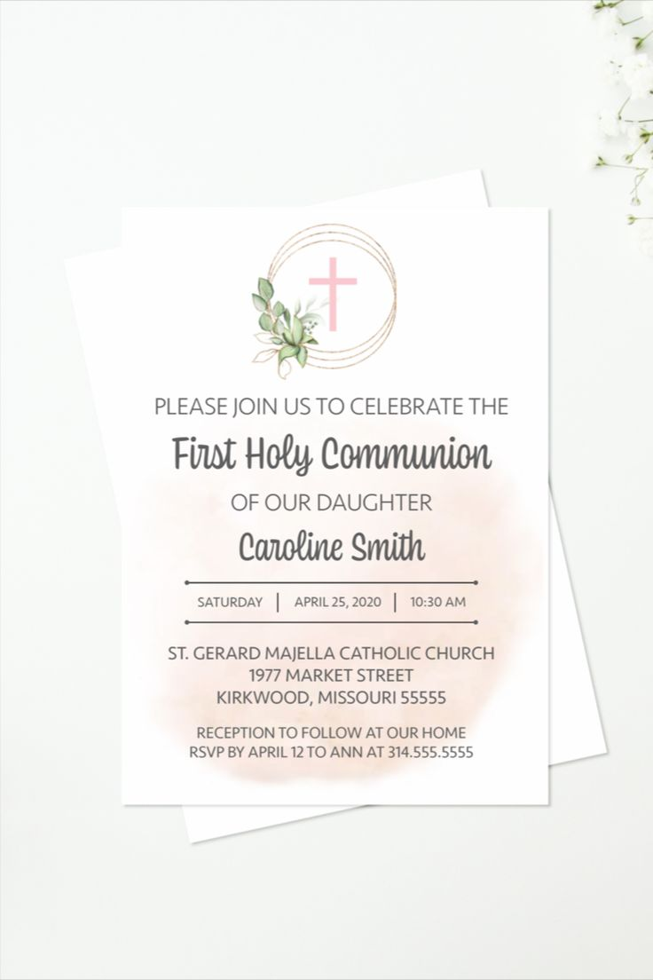 First Holy Communion Invitation, Girl First Communion