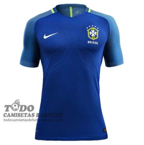 Segunda camiseta de futbol baratas Brasil 2016 €20.59