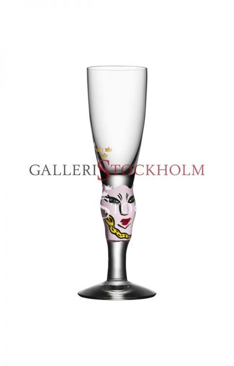 Ulrika Hydman-Vallien - Glaskonst - Open minds snapsglas rosa Beställ här! Klicka på bilden.