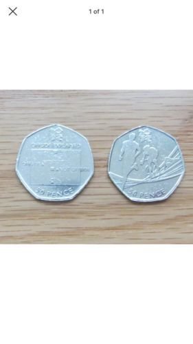 2 rare 2011 #london 2012 olympic 50p coins - #triathlon & #football,  View more on the LINK: 	http://www.zeppy.io/product/gb/2/232094196457/