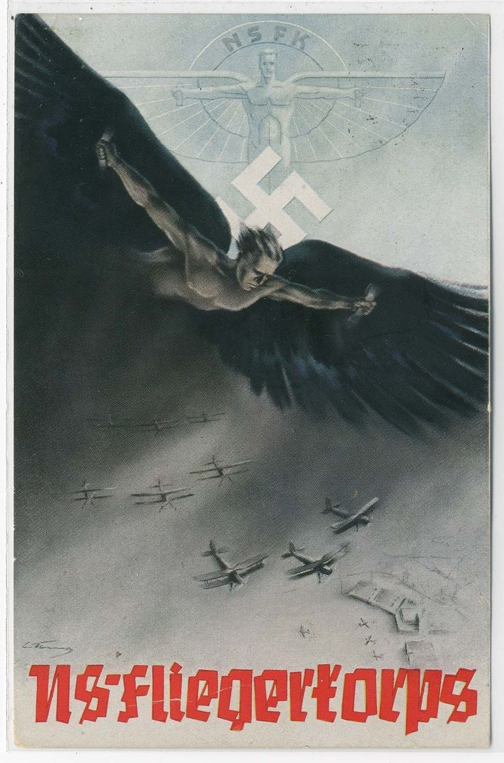 A poster for the 1939 NS-Fliegerkorps Mitteldeutscher Rundflug. The NSFK originated as the voluntary interwar Nazi flying club that camouflaged the creation of the Luftwaffe.