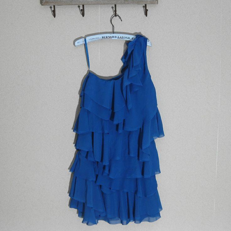 2014H домой косой плеча рукавов шифона оборками юбки платье торт юбка морской курорт дамы юбка - Taobao