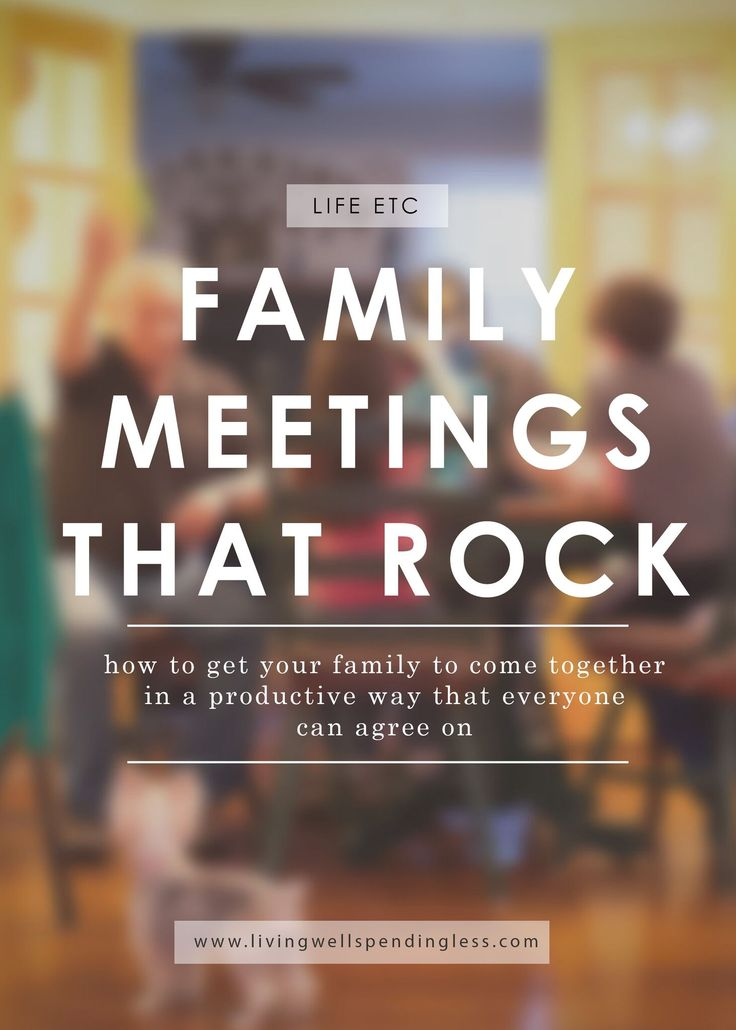 Ever feel like the weight of the world--or at least your family--is resting on your shoulders?  Family meetings are a great way to get everyone on the same page--and give you a break!  Don't miss these simple dos and don'ts will to make sure your next family meeting ROCKS! via @lwsl