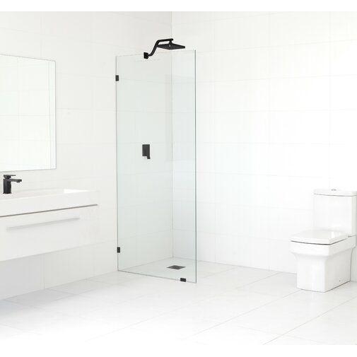 32 X 78 Frameless Fixed Glass Panel Shower Doors Black Shower