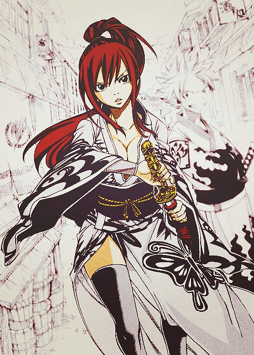 "Erza Scarlet (エルザ・スカーレット) | Fairy Tail (フェアリーテイル), FT  I don't know why but each time I see Erza, the first word I think of is ""mommy"" lol"