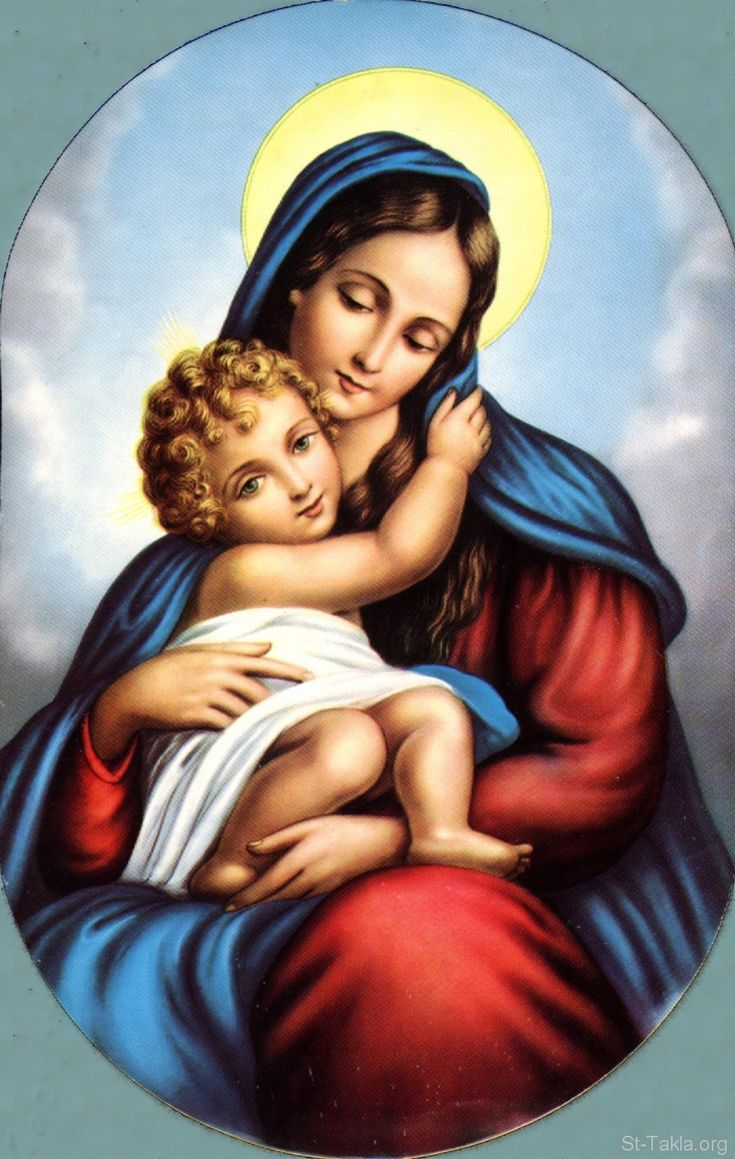 Blessed Virgin Mary And Baby Jesus Mary Pinterest