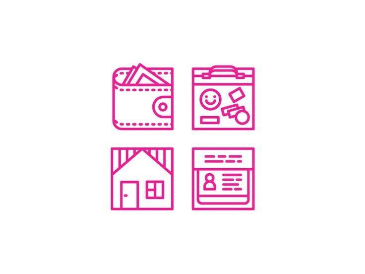Icons for real estate magazine by Liliya Zagidullina